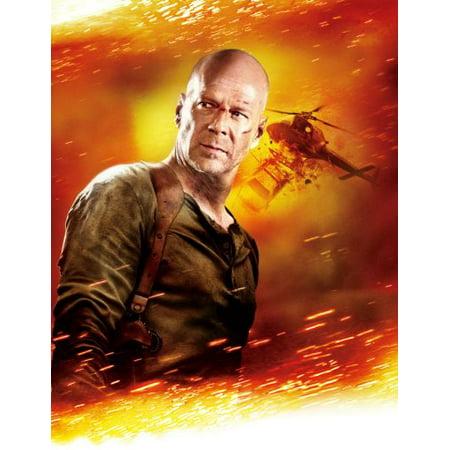Live Free Or Die Hard Poster Bruce Willis 24Inx36in