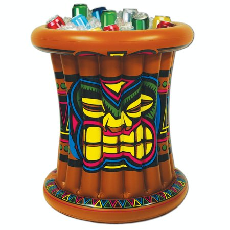 Pack of 6 Giant Inflatable Hawaiian Luau & Birthday Party Tiki Drink Coolers 25