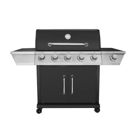 Royal Gourmet GG5301S Propane Gas Grill 5-Burner with Side Burner, Black
