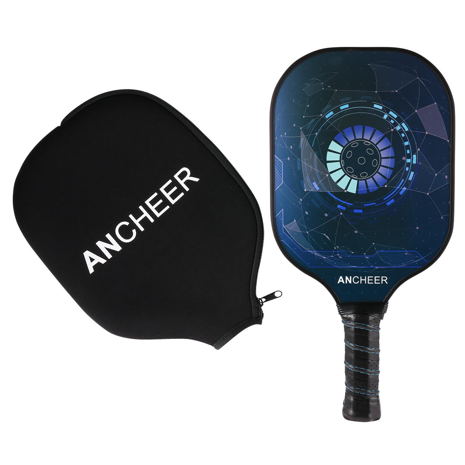 Holiday Saving!!Portable&Unique Design Professional  Pickleball Paddle Graphite Carbon Fiber Pickleball Racket PP Polymer Honeycomb Composite Core Pickleball Paddle Set MSARTS