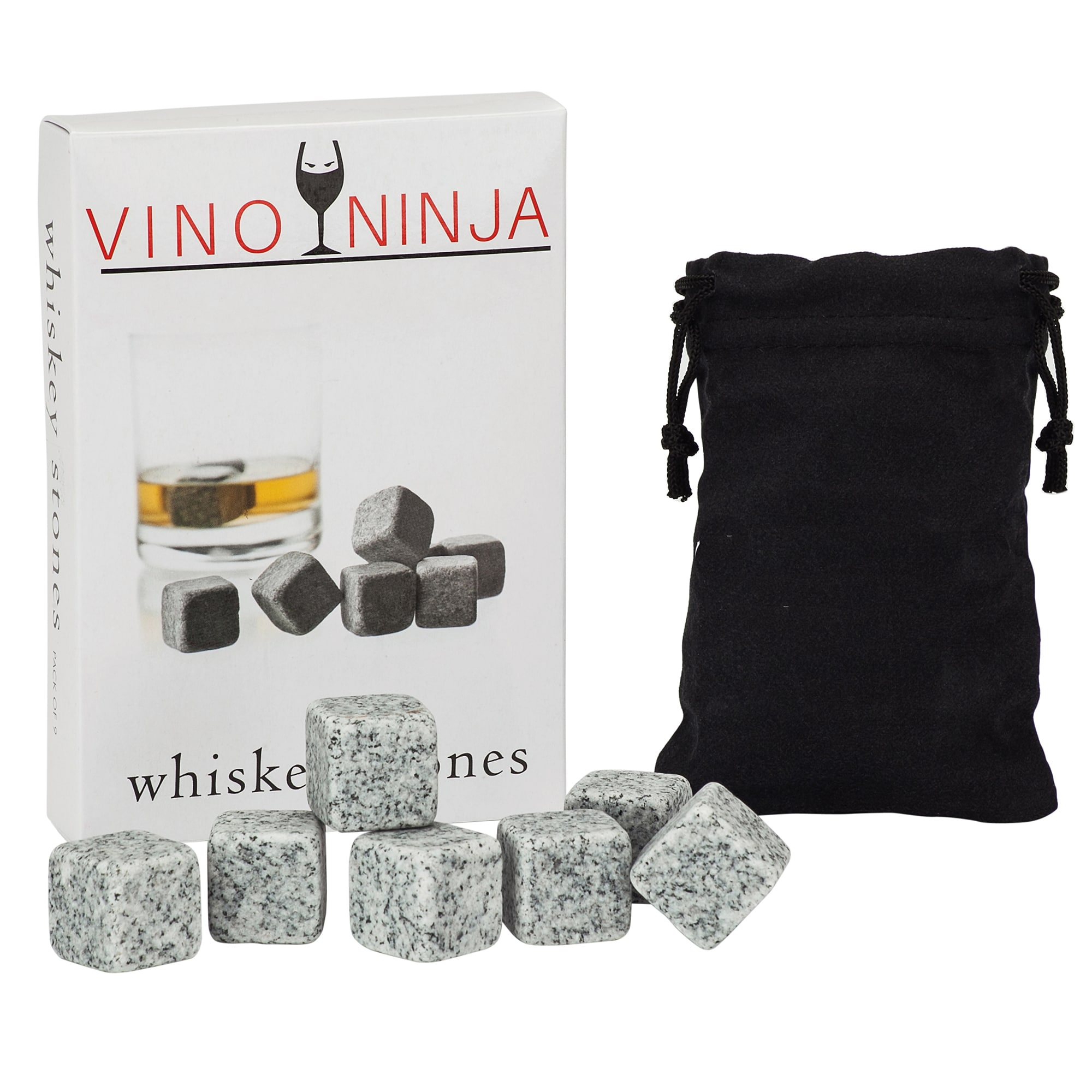 SG Global VinoNinja Grey Granite Whiskey and Drink Chilling Stones