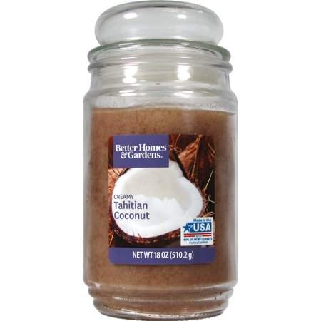 Better Homes & Gardens Tahitian Coconut Single-Wick 18 oz. Jar Candle](Garden In A Jar)