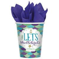 Mermaid 'Mermaid Wishes' 9oz Paper Cups (8ct)
