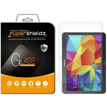 [2-Pack] Supershieldz for Samsung Galaxy Tab 4 10.1 Tempered Glass Screen Protector, Anti-Scratch, Anti-Fingerprint, Bubble