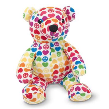 Melissa & Doug Hope Bear - Patterned Pal Teddy Bear Stuffed - Doug Pasture Pals