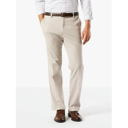 Khaki Flat Front Chino - Men's Classic Flat Front Easy Khaki with Stretch