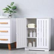 Ktaxon Bathroom Storage Floor Cabinet Free Standing with Double Shutter Door