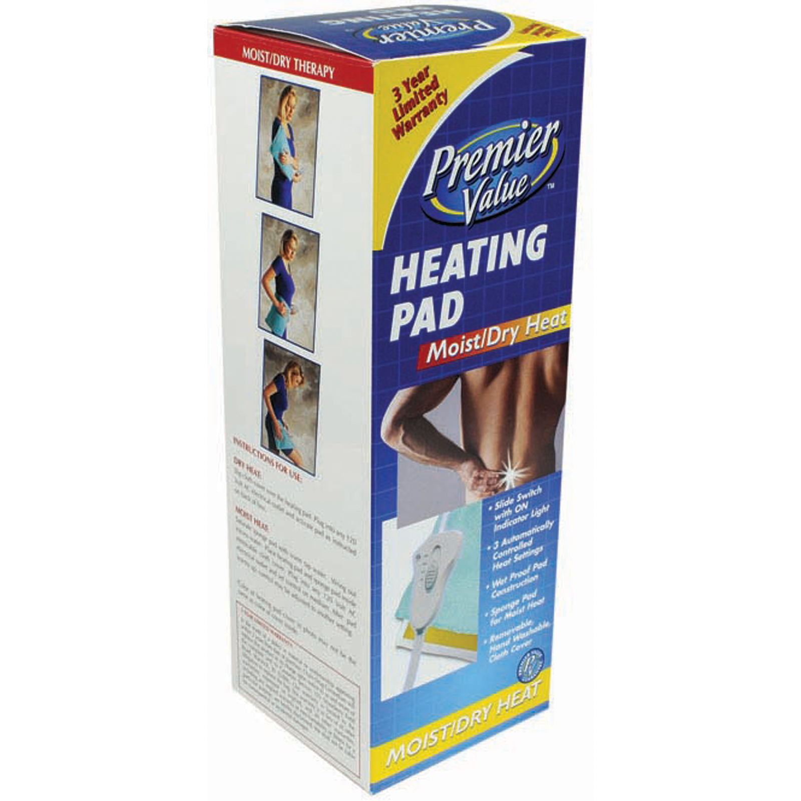 Premier Value Heating Pad Moist/Dry - 1ct