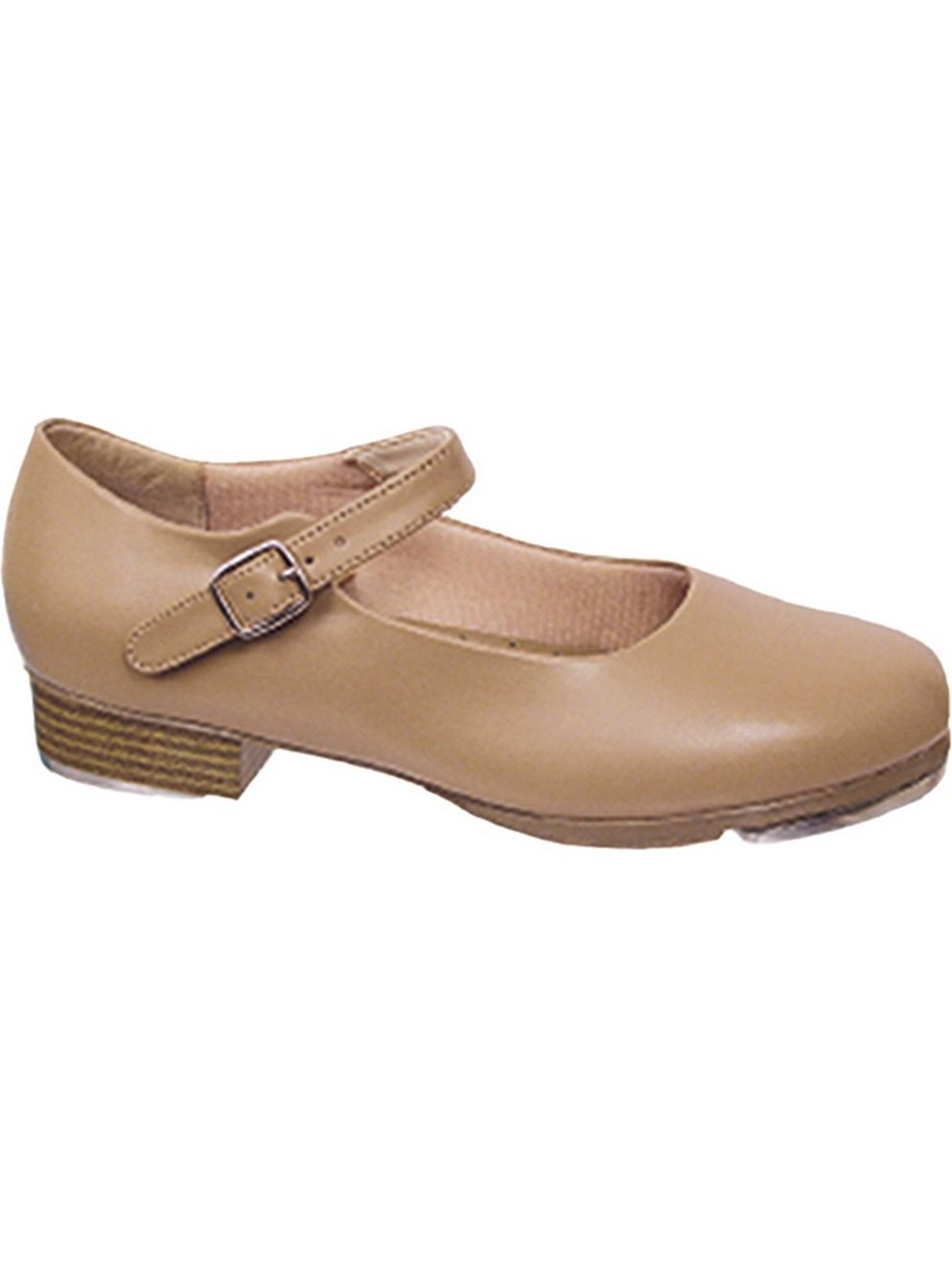 Beige Leather-Like Mary Jane Non-Skid Sole Rhythm Tones Tap Shoes 5-11 Womens