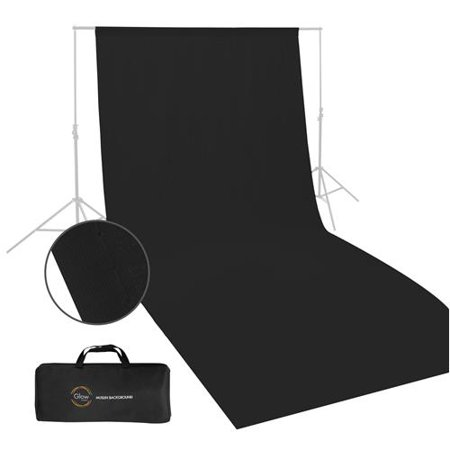 Glow Muslin Background - 10 x 20 ' (Black) - Black Glow