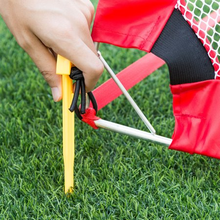 Set of 2 Portable 4' Pop-Up Soccer Goals Set Backyard w/ Carrying Bag 6 Cones - image 3 of 7