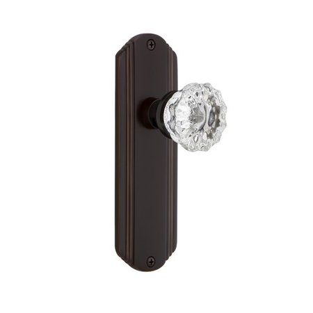 Nostalgic Warehouse Crystal Door Knob with Deco Plate