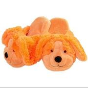 My Pillow Pets Neon Orange Dog Slippers