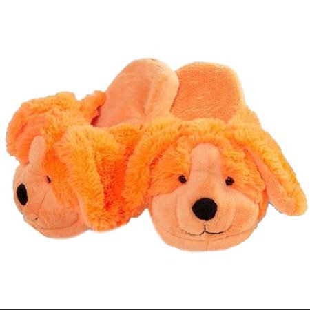 My Pillow Pets Neon Orange Dog Slippers - Walmart.com