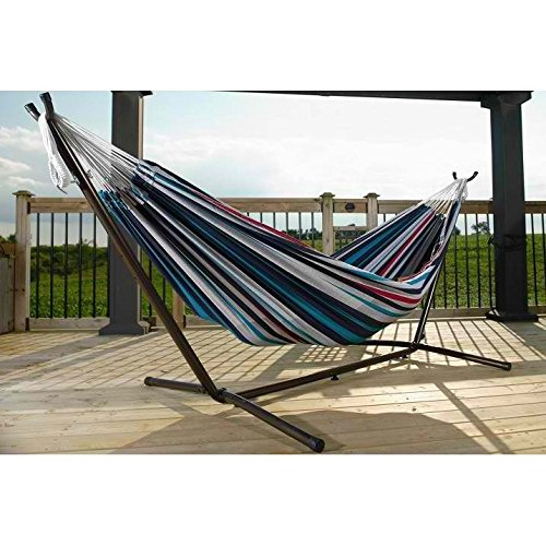 VIVERE COMBO - DOUBLE COTTON HAMMOCK WITH STAND (9FT)