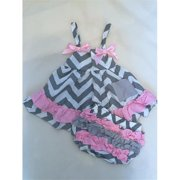 Olie GCHEV114602 Gray Chevron Swing Top, 6-12 Months
