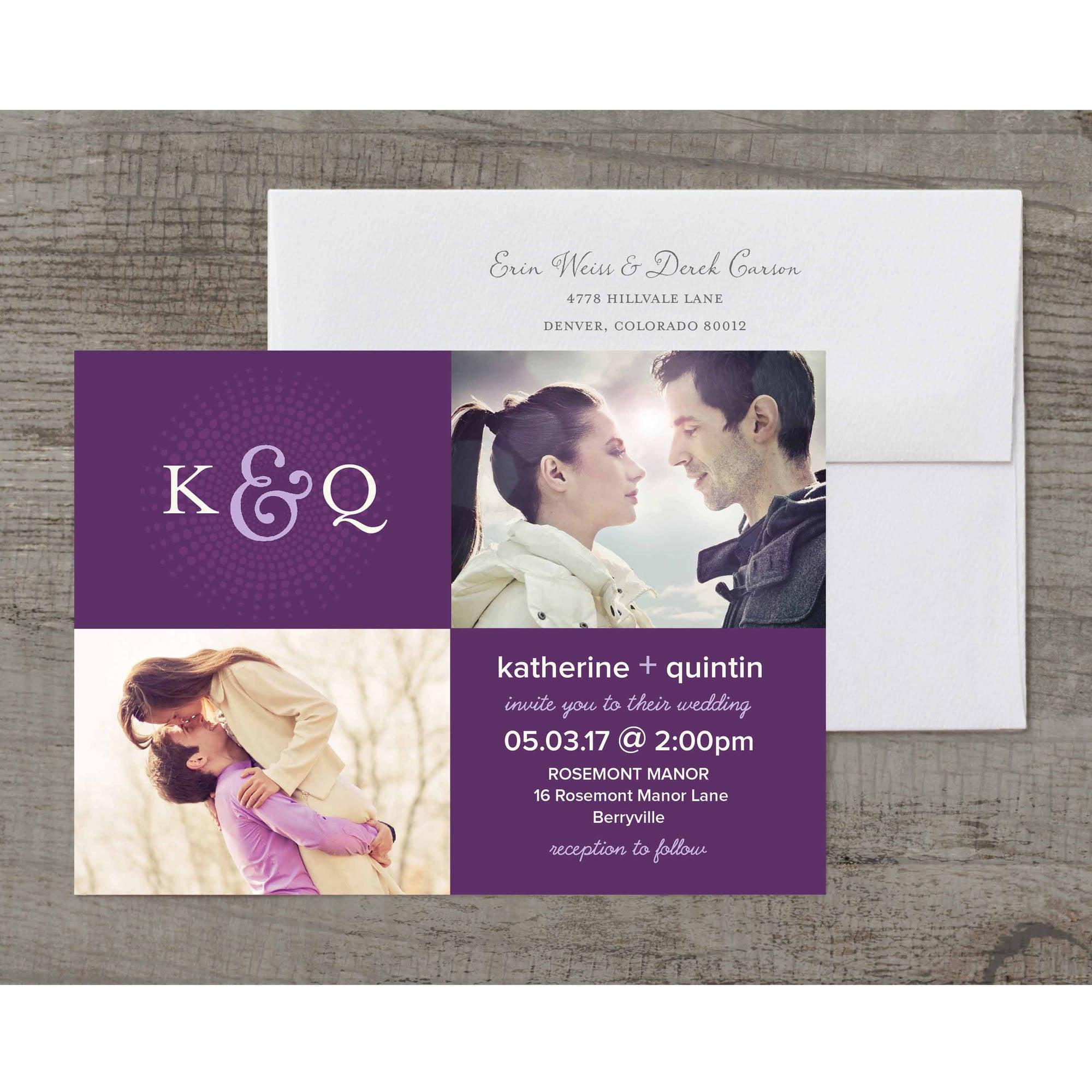 Roman Monogram Deluxe Wedding Invitation