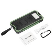 Waterproof Portable 300,000mAh Solar Charger Solar Power Bank Battery Dual USB Port LED Flashlight + Carabiner + USB Cable for iPhone