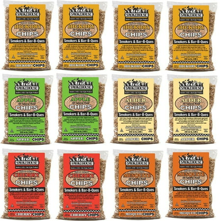 Smokehouse Assorted Wood Flavored Chips 12 Pack Assortment