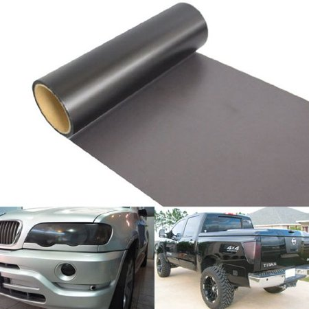 (12 by 48 inches Matte Black Out Smoke Tail Lights or Headlights Tint Vinyl Film)