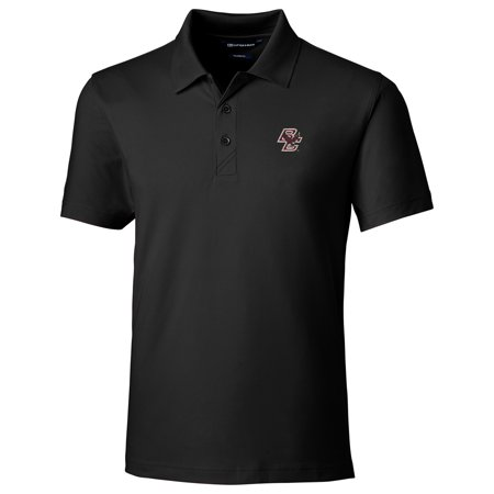 Boston College Eagles Cutter & Buck Forge Tailored Fit Polo - Black