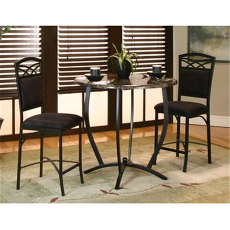 Sunset Trading 3 Piece Sierra Round Pub Table (Round Pub Table Sets)