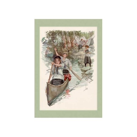 Paddling Their Own Canoe Print (Unframed Paper Print 20x30)