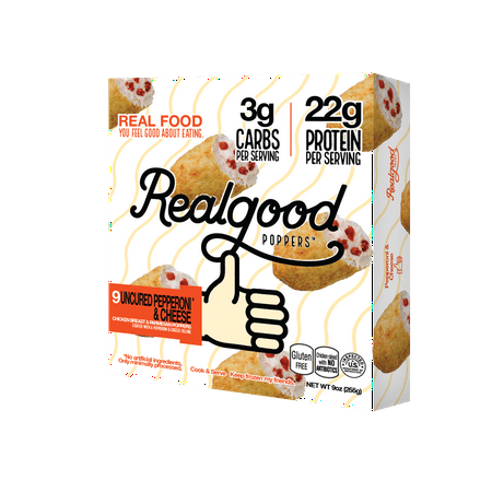 Real Good Pepperoni Cheese Chicken Poppers 9 Oz Box 9 Count