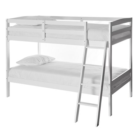 Dream On Me Mini Twin Over Twin Bunk Bed White