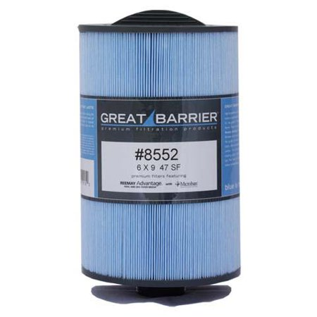 Hot Tub Great Barrier Filter - 50 Sf Top Load Replacement Filter HTCP8552 -