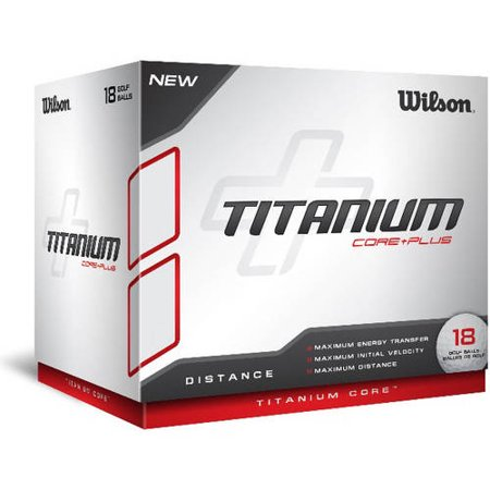 Wilson Titanium White Golf Balls, 18 pack