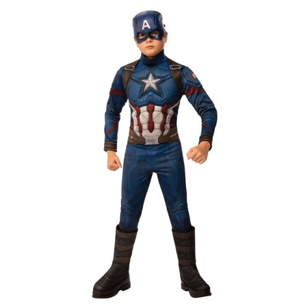Captain America Elite Costume (Avengers: Endgame Deluxe Boys Captain America)