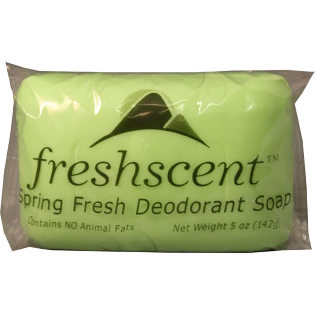Freshscent- 5 oz. Spring Fresh Deodorant Soap - Case of 72 - SDS5