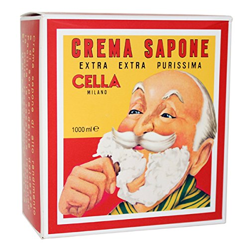 CELLA Shaving cream Soap - XL GIANT Size - One Kilo Box 1000GR - almond shave creme - Fills cella container 12 times - image 1 de 1