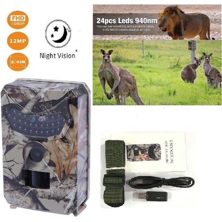 1080P Hunting Trail Camera Infrared Night Vision Scouting Camera for Wildlife Hunting Monitoring and Farm Security thumbnail