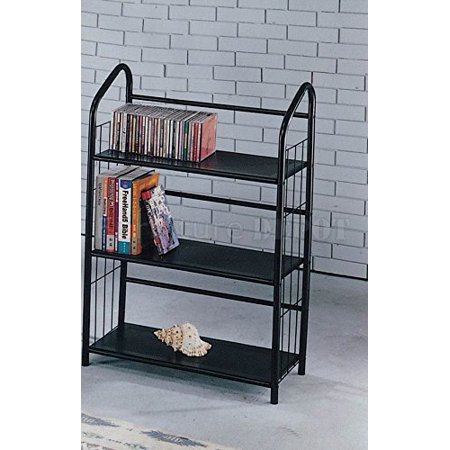timeless design 070f3 2c5fa Black Metal Outdoor Patio Plant Stand 5 Tier Shelf Unit (3-TIER SHELVES),  Constructed of sturdy metal with black painted finish By The Furniture Cove
