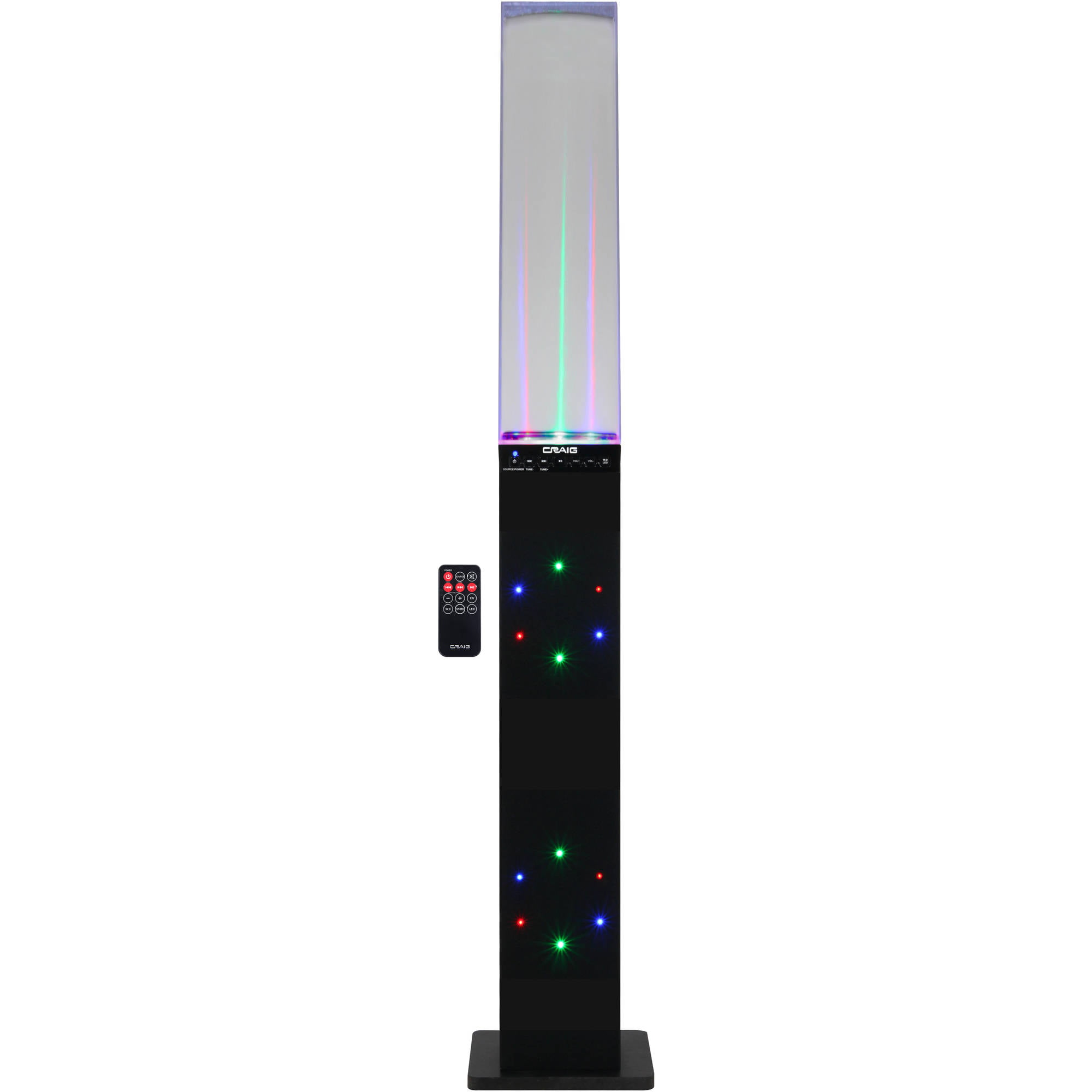 Craig Water Dancing Tower Speaker System With Color Changing Lights