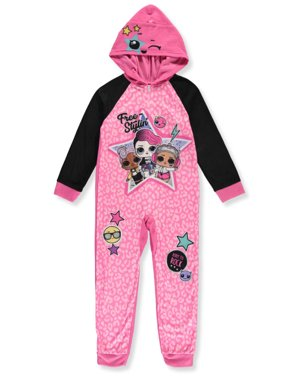 LOL Surprise Girls' Free Stylin' Hooded 1-Piece Pajamas (Little Girls)