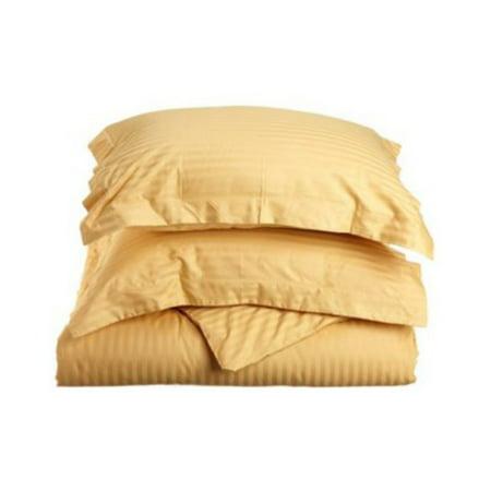 Superior 400 Thread Count 100  Premium Combed Cotton Stripe Duvet Cover Set