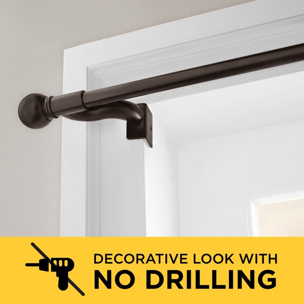 Smart Rods Twist And Shout No Drill Adjustable Window Curtain