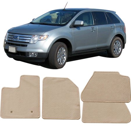 - Fits 07-13 Ford Edge Floor Mats Carpet Front & Rear Beige 4PC - Nylon