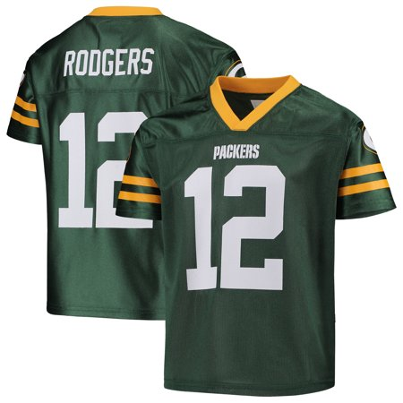 Youth Aaron Rodgers Green Green Bay Packers Replica Jersey (Packer Jersey Youth)