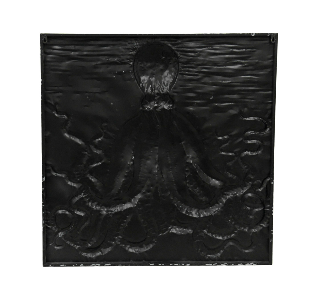 Pale Blue Relief Metal Octopus Wall Hanging 35 Inches Square - image 1 of 3