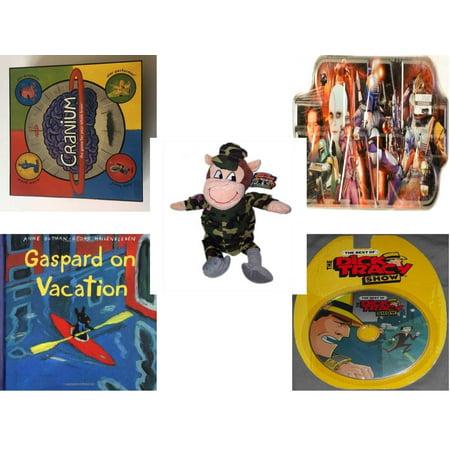 Children's Gift Bundle [5 Piece] -  2002 Cranium  - Star Wars Bounty Hunter Collector Tin   - 2014 Limited Collector Series The Adventures of Georgie & Gracy  Georgie Monkey 19