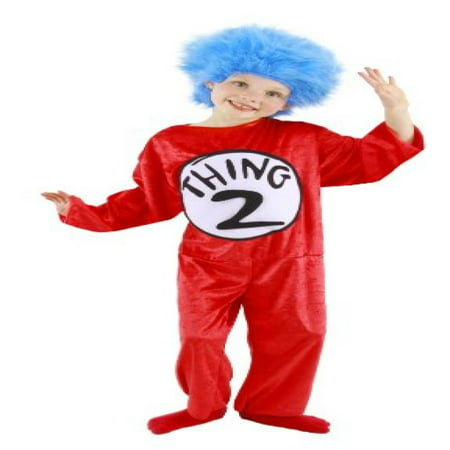 Dr. Seuss Thing 1 and 2 Kid's Costume (S, 4-6) by elope - Thing 1 And Thing 2 Iron On