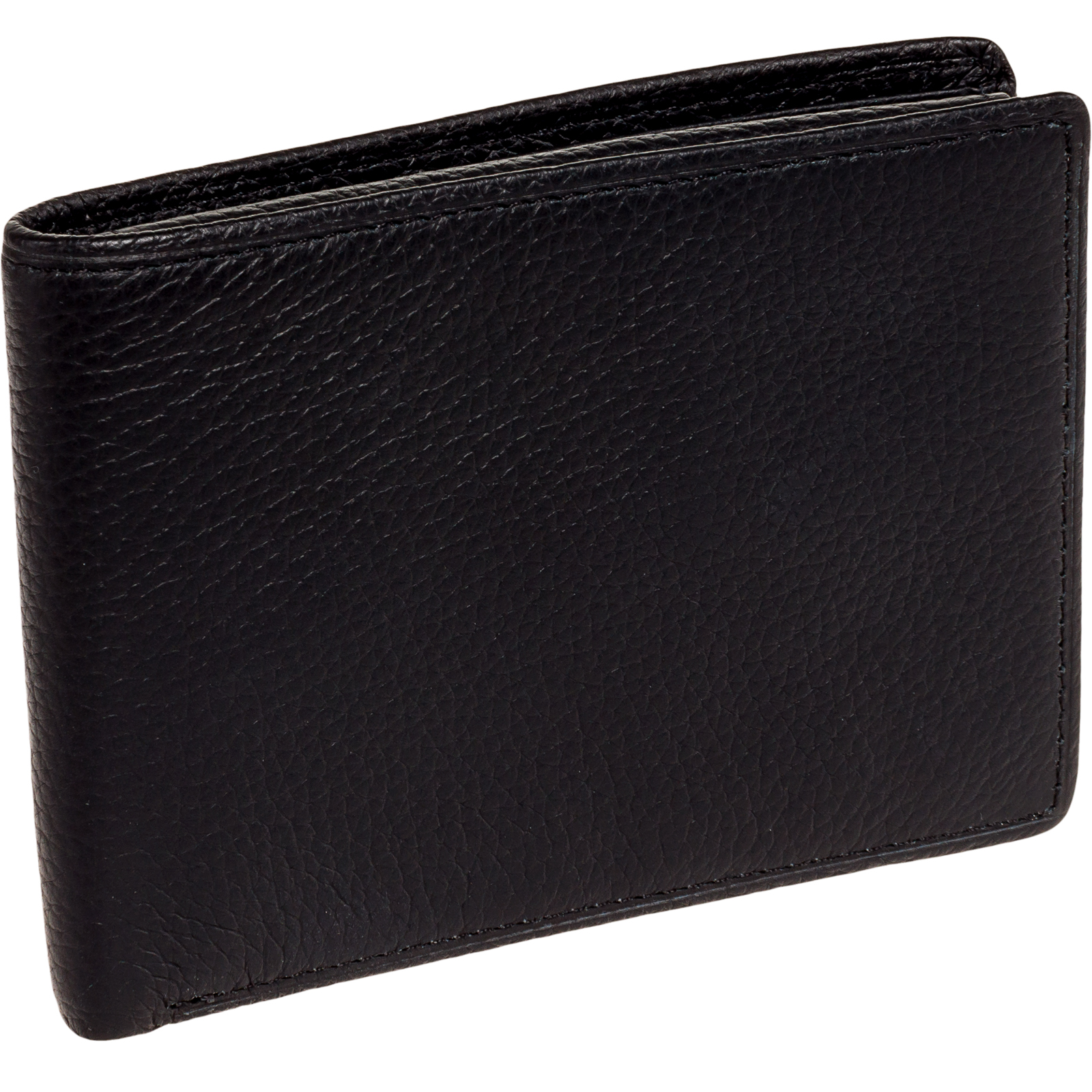 ROSS MICHAELS NEW Men Black Genuine Leather Logo Embossed Billfold Bifold Wallet
