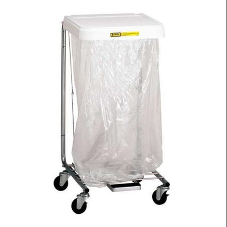 R&B WIRE PRODUCTS INC. 692 Laundry Hamper Cart, 1 Comp, Gry, 3.5 cu ft (Laundry Hamper Cat)