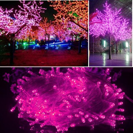 Pink String Lights Inspiration 60M 600 LED Christmas String Lights Pink Lights Decorative Party