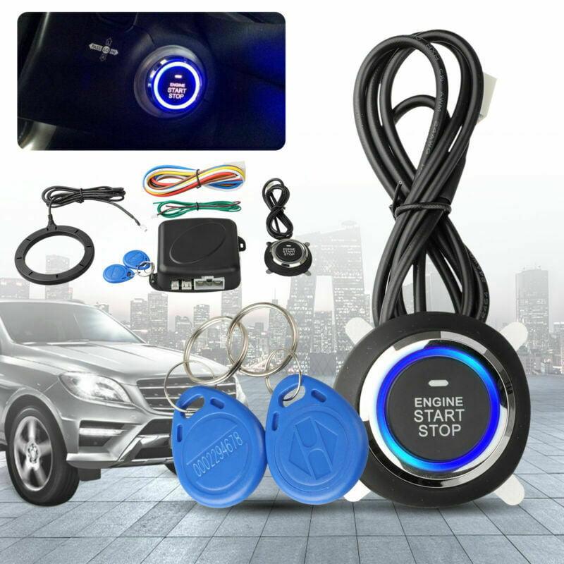 Car Engine Push Start Button RFID Lock Keyless Entry Start Stop Ignition Starter