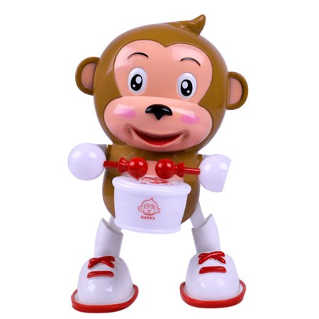 Electric Dancing Monkey Flashing Led Light Baby Kid Developmental